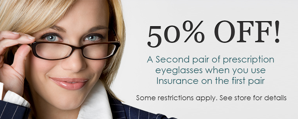 special offers on prescription eyeglasses & eye exams